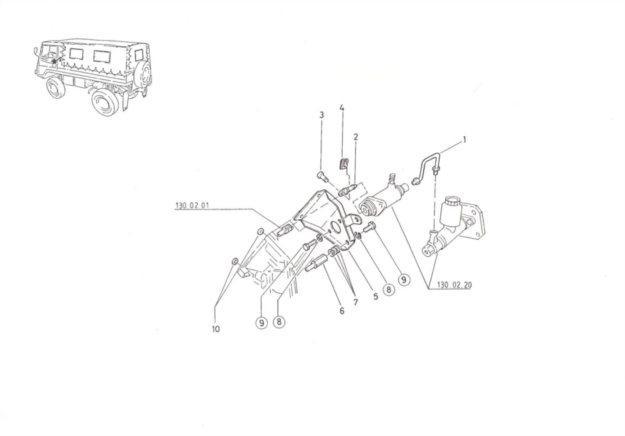Konsole für Nehmerzylinder-Bremse, Fahrschulausführung
