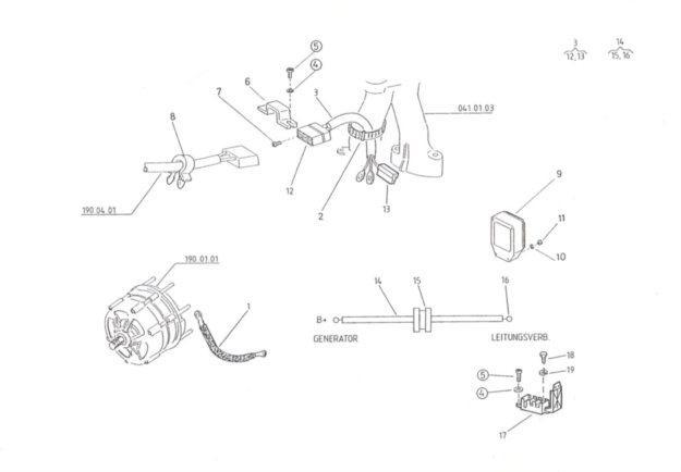 Generatorleitung Regler