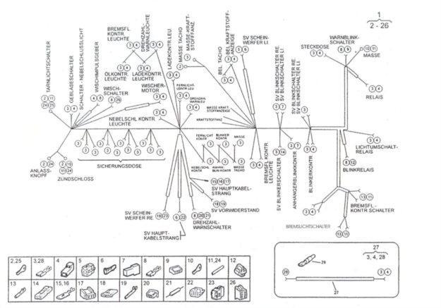 Leitungsstrang Instrumentenbrett