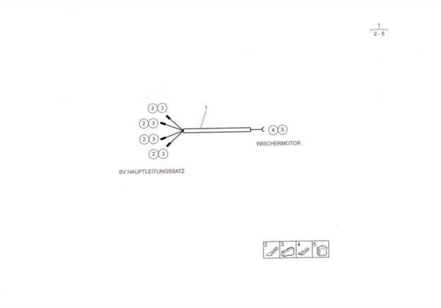 Leitungssatz Wischermotor