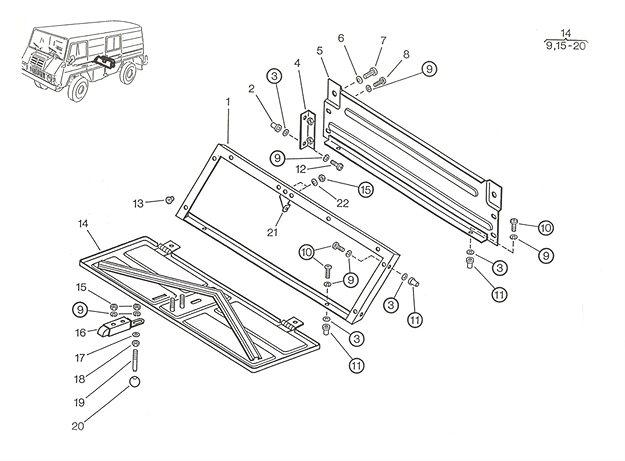 Werkzeugkasten A, C, F, P