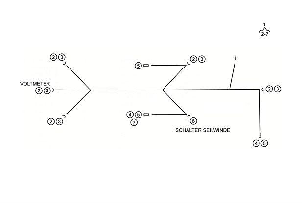 Leitungsstrang Voltmeter P