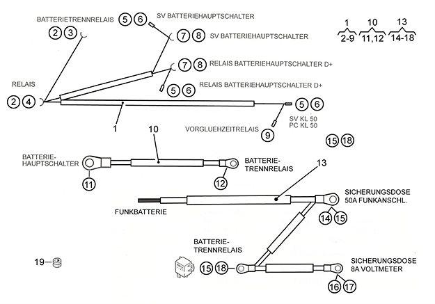 Leitungsstrang Batterie Trennrelais P