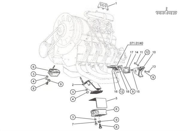 Motoraufhängung