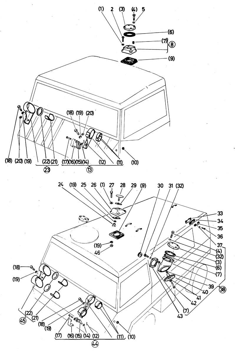 CH-Antennenträger, Ant.-masthalterung