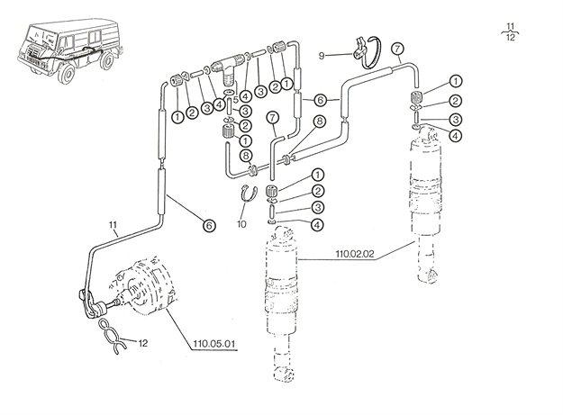 Pneum Leitungen (Luftfeder) A, B